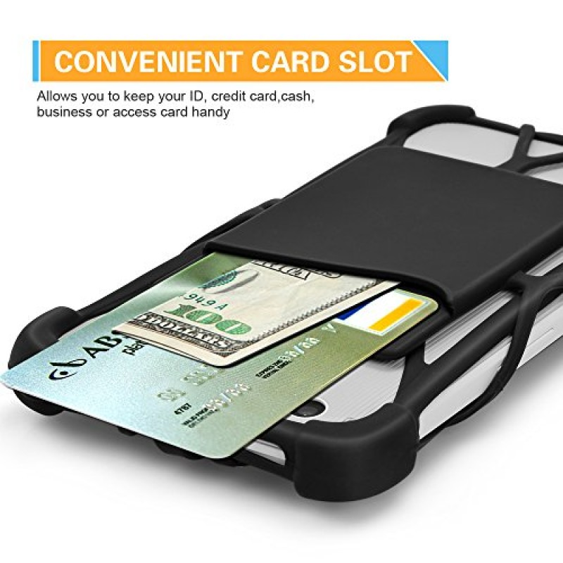2 in 1 Cell Phone Lanyard Strap Case, Universal Smartphone Neck Laniard Shockproof Cover with ID Card Holder Necklace Tether for iPhone 4 5 6 6s 7 ...