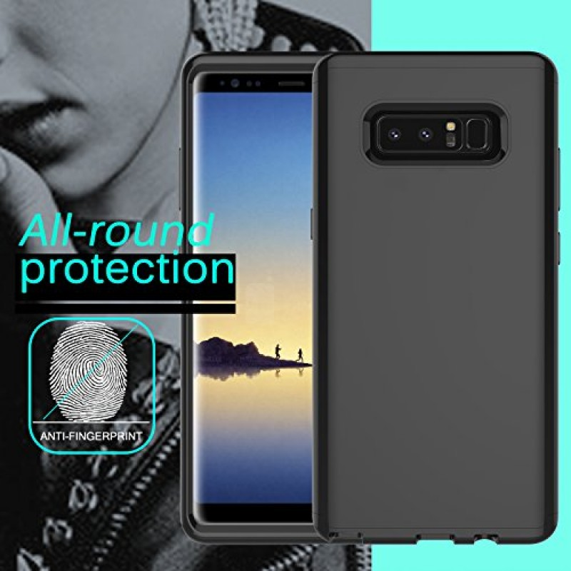 "DONWELL Galaxy Note 8 New 2017 Hybrid Three Layer Shockproof Protective Hard Armor Cell Phone Case Cover Protector for Samsung Galaxy Note 8 6.3"" (..."