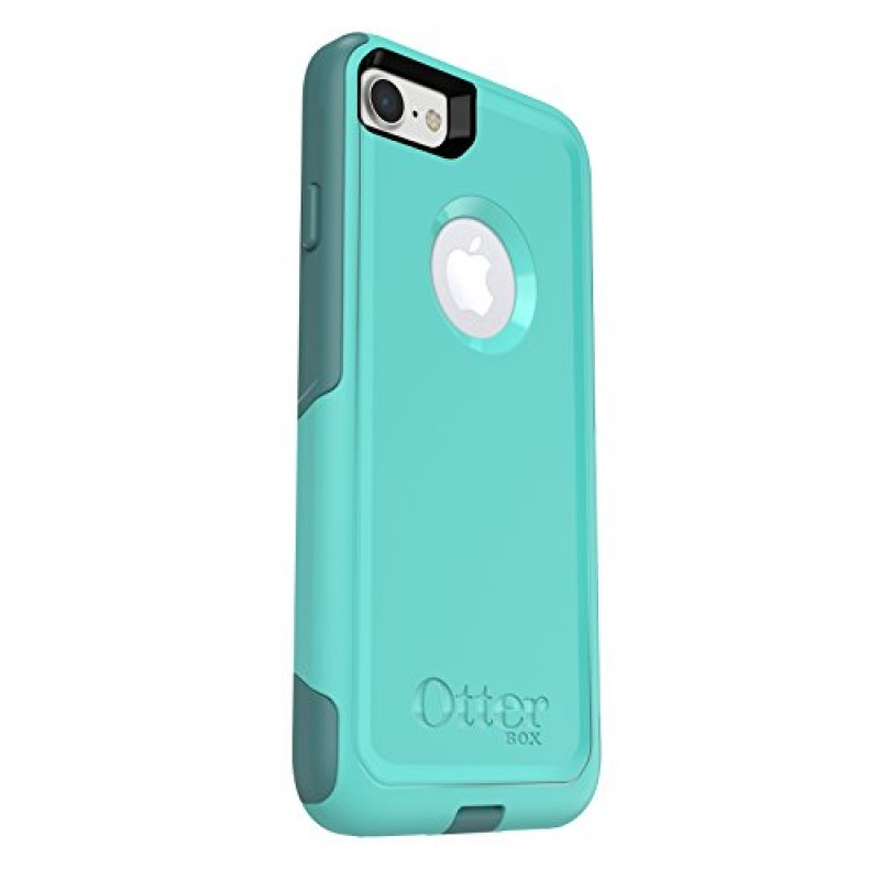 OtterBox COMMUTER SERIES Case for iPhone 8 & iPhone 7 (NOT Plus) - Frustration Free Packaging - AQUA MINT WAY (AQUA MINT/MOUNTAIN RANGE GREEN)