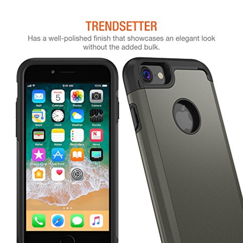 iPhone 8 Case, Trianium Protanium Apple iPhone 8 Case (2017) with Heavy Duty Protection / Shock Absorption / Dual Layer TPU + Rigid Back Armor / Sc...